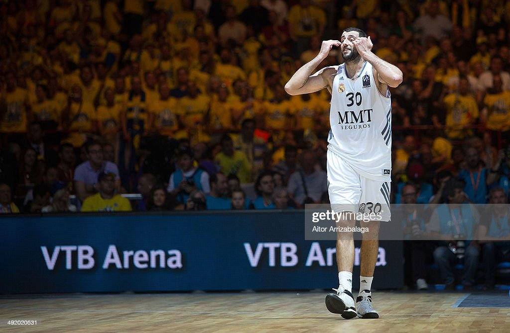 Ioannis Bourousis #30 of Real Madrid during the Turkish Airlines Final Four Final game between Real Madrid vs Maccabi Electra Tel Aviv at Mediolanum...