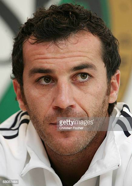 Ioannis Goumas of Greece during the FIFA Confederations Cup 2005 training session of the Greek National Team on June 12 2005 in Leipzig Germany