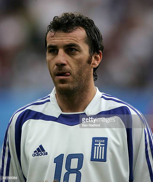 Ioannis Goumas of Greece during the Group B FIFA 2005 Confederations Cup match between Greece and Mexico at the Waldstadion on June 22 in Frankfurt...