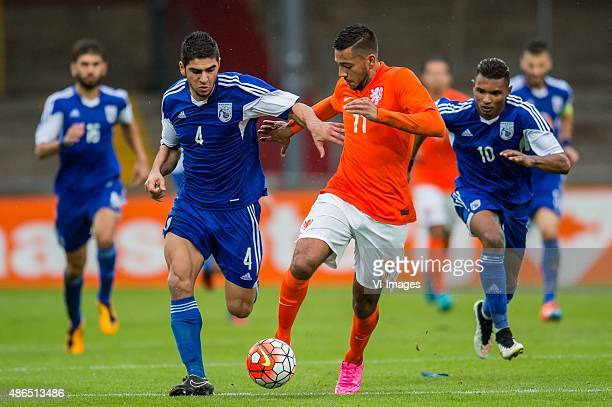 Ioannis Kousoulos of Cyprus U21 Ricardo Kishna of Netherland U21 during the Uefa EURO 2017 qualifying match between Netherlands U21 and Cyprus U21 on...