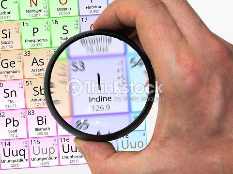 Iodine symbol element of the periodic table zoomed with mag stock iodine symbol element of the periodic table zoomed with mag stock photo urtaz Choice Image