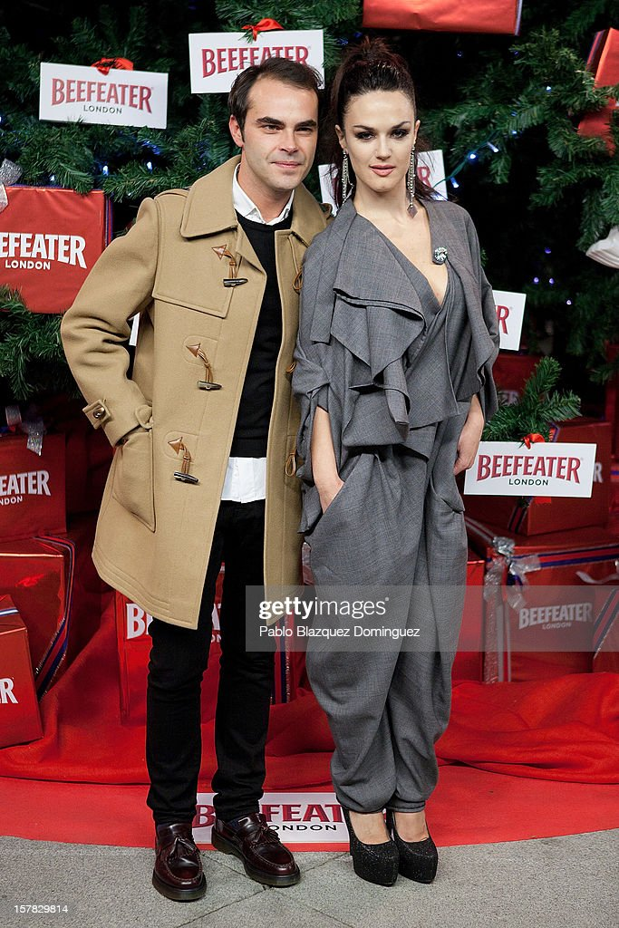 Ion Fiz and Sara Vega attend Beefeater London Market at Cibeles Palace on December 6, 2012 in Madrid, Spain.