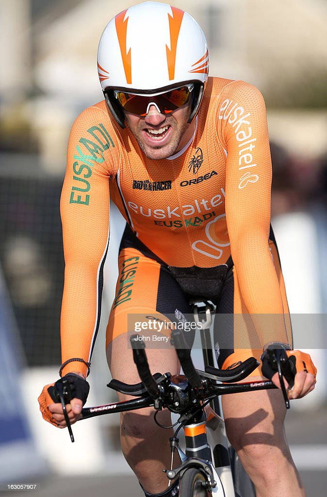 Ion Izaguirre Insausti of Spain and Team Euskaltel-Euskadi rides during the prologue of 2.9 km of the 2013 Paris-Nice on March 3, 2013 in Houilles, Yvelines, France.