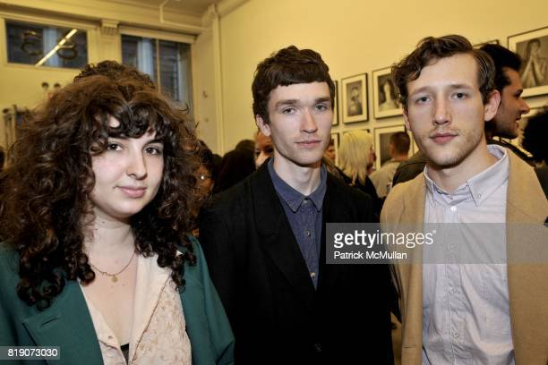 Iona Hercberg Patrick Dyer and Arnault Kononow attend Ryan McGinley Everybody Knows This Is Nowhere at Team Gallery on March 18 2010 in New York City