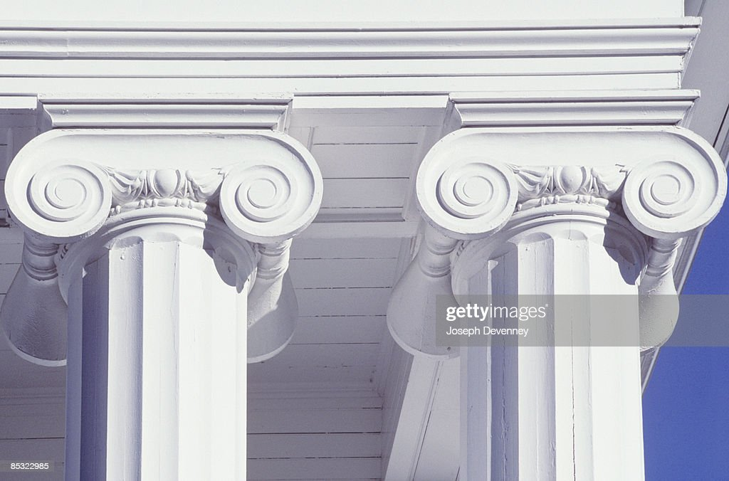 Ionic Columns : Stock Photo