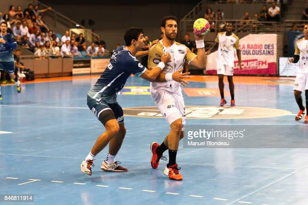 Iosu Goni Leoz of Aix during Lidl Star Ligue match between Fenix Toulouse and Pays D'aix Universite Club on September 13 2017 in Toulouse France