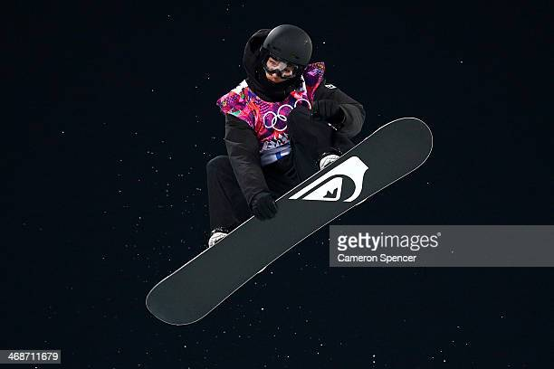 Iouri Podladtchikov of Switzerland competes in the Snowboard Men's Halfpipe Finals on day four of the Sochi 2014 Winter Olympics at Rosa Khutor...