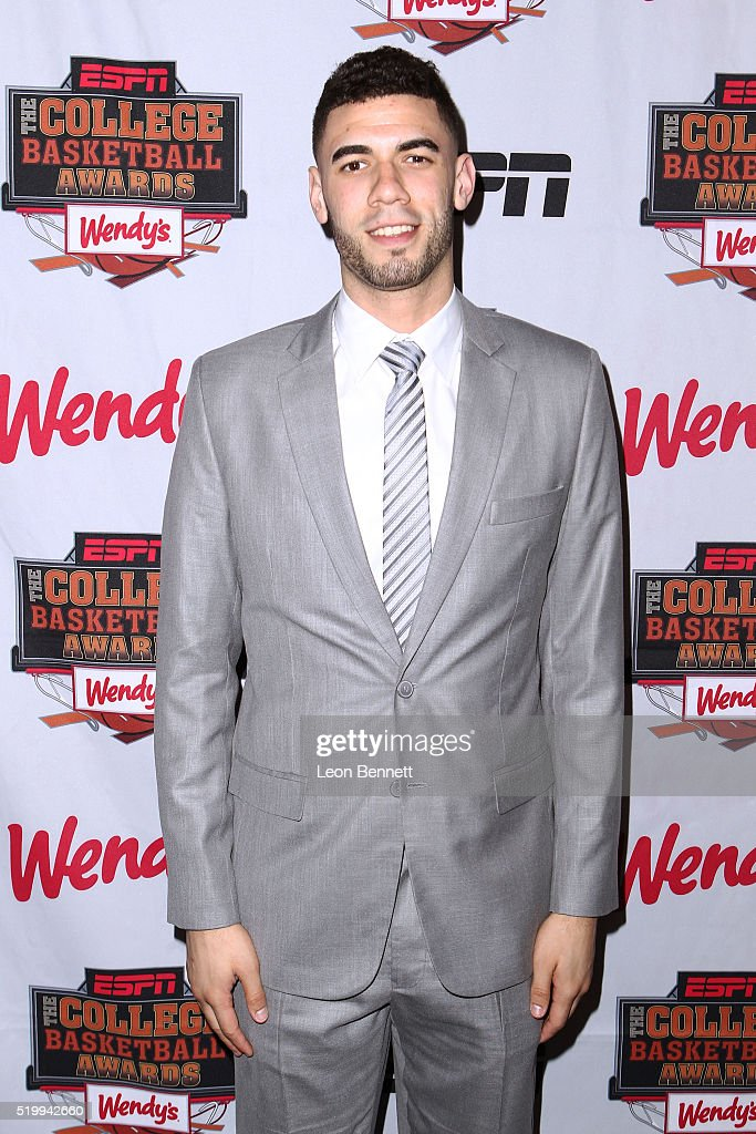 Iowa StateÕs George Niang winner of the Karl Malone Power Forward of the Year Award attends the 2016 College Basketball Awards Presented By Wendy's at Microsoft Theater on April 8, 2016 in Los Angeles, California.