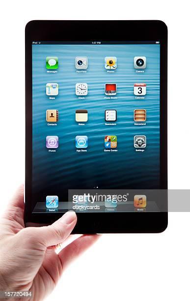iPad mini Black and Slate Held in Hand