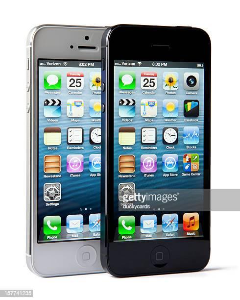 iPhone 5 Weiß/Silber und Schwarz/Schiefer-Modelle