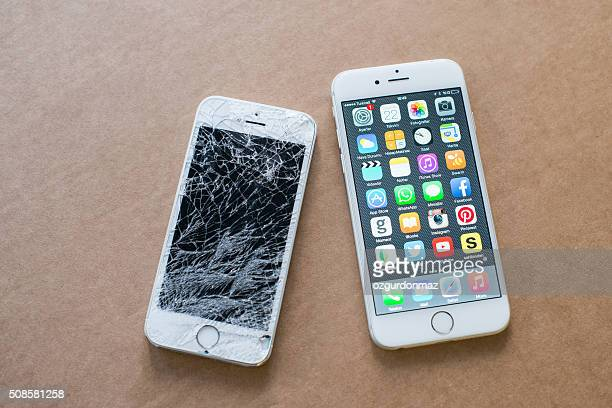 iPhone 6 and broken iPhone 5s