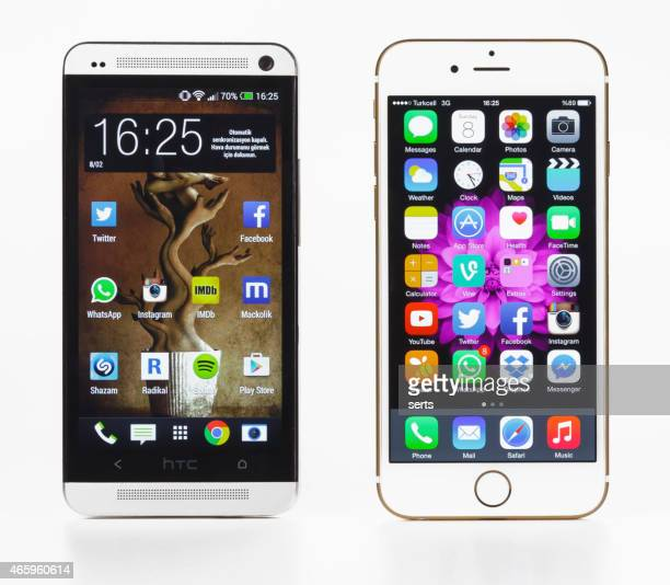 iPhone 6 and HTC One