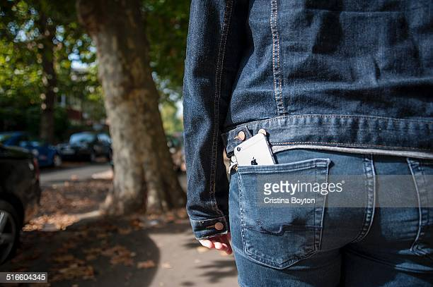 iPhone in back pocket