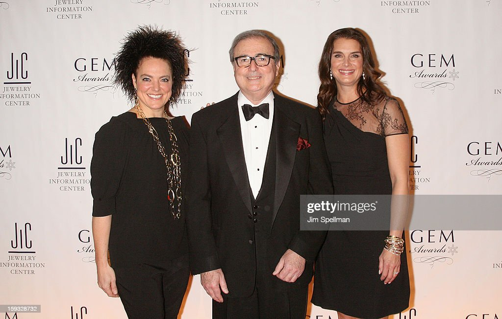 Ippolita Rostagno, Matthew A. Runci and actress <a gi-track='captionPersonalityLinkClicked' href=/galleries/search?phrase=Brooke+Shields&family=editorial&specificpeople=202197 ng-click='$event.stopPropagation()'>Brooke Shields</a> attend the 11th Annual GEM Awards Gala at Cipriani 42nd Street on January 11, 2013 in New York City.
