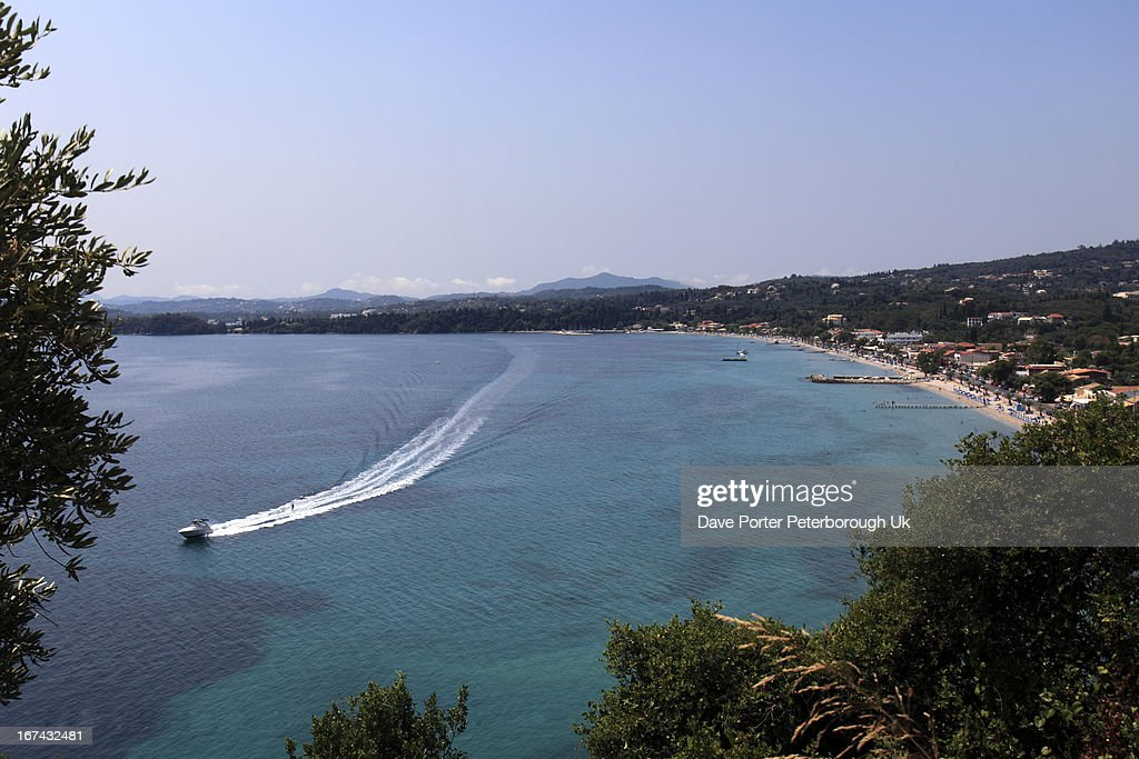 Ipsos beach resort, Corfu Island, : Foto de stock