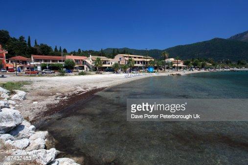 Ipsos beach resort, Corfu Island, : Foto de stock