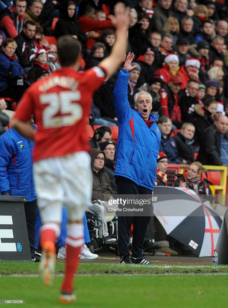 Ipswich manager <a gi-track='captionPersonalityLinkClicked' href=/galleries/search?phrase=Mick+McCarthy&family=editorial&specificpeople=226594 ng-click='$event.stopPropagation()'>Mick McCarthy</a> calls for the throw in during the npower Championship match between Charlton Athletic and Ipswich Town at The Vally on December 26, 2012 in London, England.