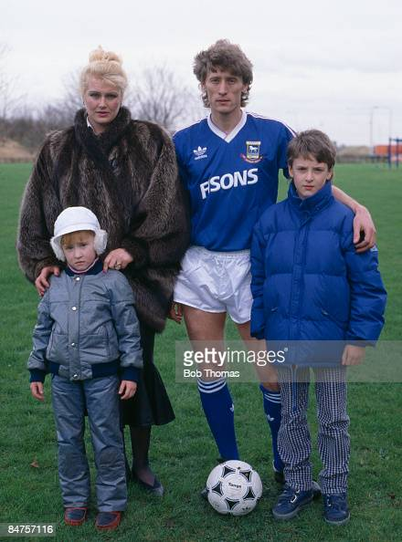 Ipswich Town defender Sergei Baltacha with his wife Olga and son Sergei and daughter Elena circa 1988 Olga is a former athlete who respresented the...