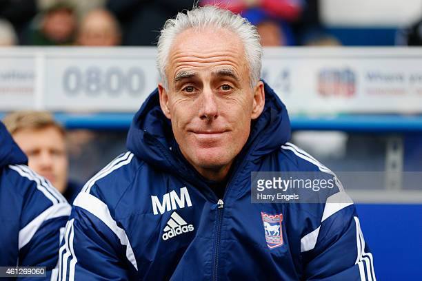 Ipswich Town manager Mick McCarthy looks on before kick off during the Sky Bet Championship match between Ipswich Town and Derby County at Portman...
