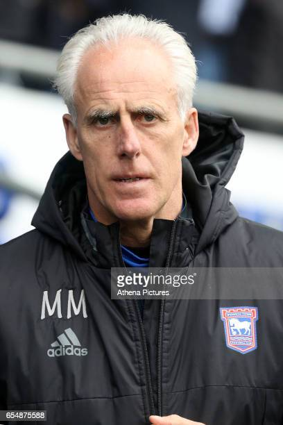 Ipswich Town Manager Mick McCarthy prior to kick off of the Sky Bet Championship match between Cardiff City and Ipswich Town at The Cardiff City...