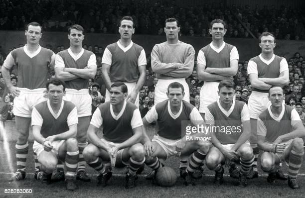 Ipswich Town team photo from the 196162 season Back row left to right John Compton leftback Bill Baxter righthalf Andy Nelson centrehalf and captain...