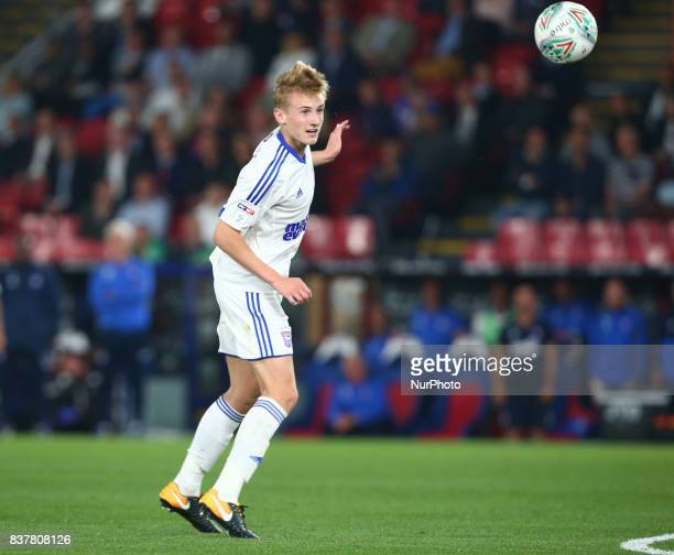 Ipswich Town's Ben Morris during Carabao Cup 2nd Round match between Crystal Palace and Ipswich Town at Selhurst Park Stadium London England on 22...