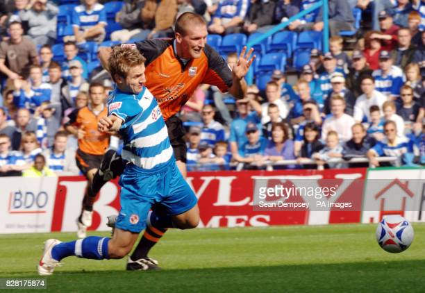 Ipswich Town's Jason De Vos fouls Reading's Kevin Doyle