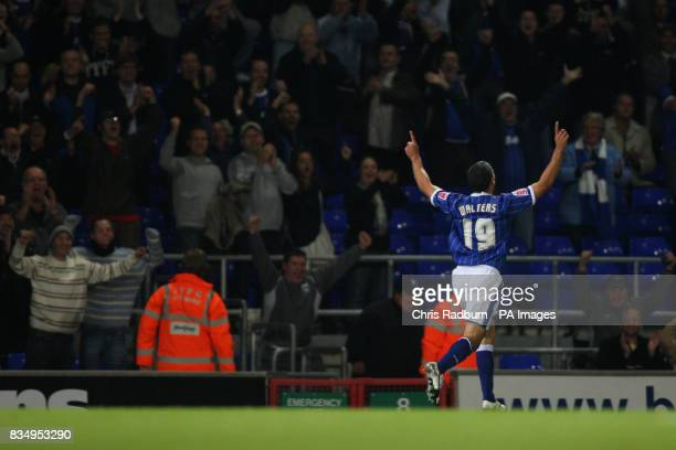 Ipswich Town's Jonathan Walters celebrates scoring his sides first goal in front of the Ipswich fans
