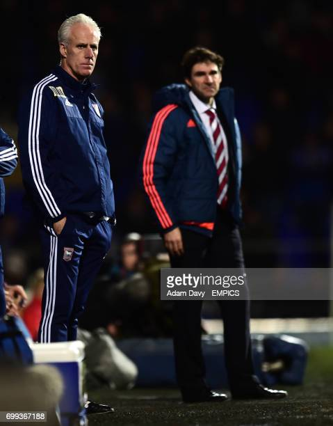 Ipswich Town's Manager Mick McCarthy and Middlesbrough's Manager Aitor Karanka
