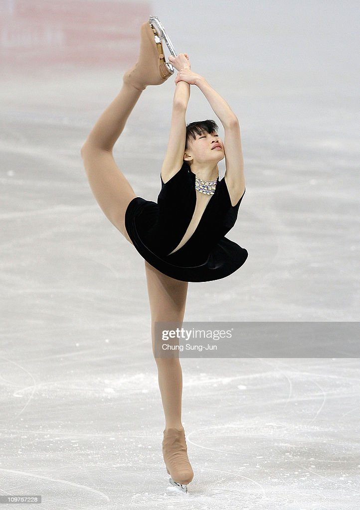 Ira <a gi-track='captionPersonalityLinkClicked' href=/galleries/search?phrase=Christina+Gao&family=editorial&specificpeople=6719493 ng-click='$event.stopPropagation()'>Christina Gao</a> of the United States competes in the Ladies Short on day five of the 2011 World Junior Figure Skating Championships at Gangneung International Ice Rink on March 4, 2011 in Gangneung, South Korea.