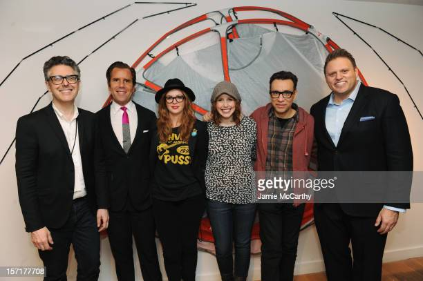 Ira Glass Scott Dadich Amber Tamblyn Vanessa Bayer Fred Armisen and Howard Mittman attend the 8th Annual WIRED Store opening night party in New York...