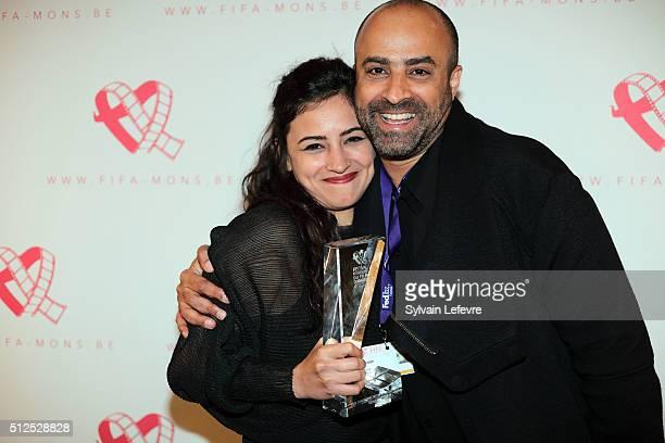Iraeli actress Moran Rosenblatt and director Nitzan Gilady attends closing ceremony of 32nd Mons International Love Film Festival at Royal Theater on...