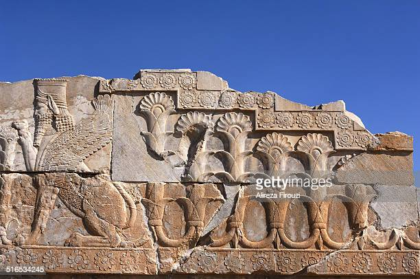 Iran, Persepolis, Bas relief of sphynx