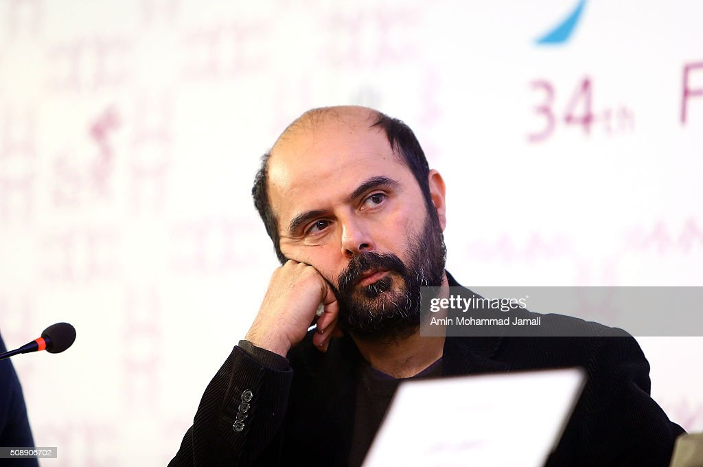Iranian Actor Ali Mosafa attends a press conference as part of the 34rd Fajr International Film Festival on February 7, 2016 in Tehran, Iran.