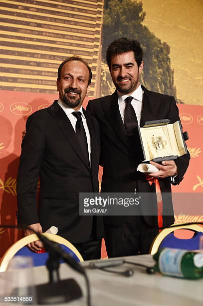 Iranian actor Shahab Hosseini winner of the award for Best Actor for the movie 'The Salesman' and Iranian director Asghar Farhadi winner of the award...