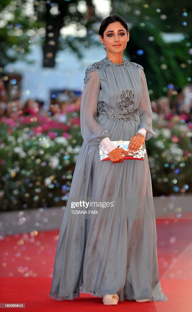 Iranian actress and member of the Orizzonti Jury, Golshifteh Farahani arrives for the award ceremony of the 70th Venice Film Festival on September 7, 2013 at Venice Lido.