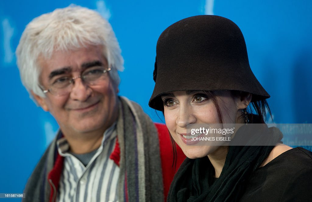 Iranian actress Maryam Moghadam (R) and Iranian director Kambuzia Partovi pose during the photocell of their film Parde (Closed Curtain) during the 63rd Berlinale Film Festival on February 12, 2013.