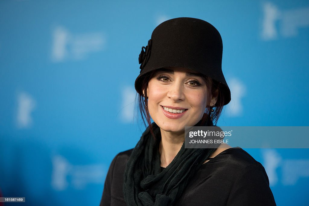 Iranian actress Maryam Moghadam poses during the photocell of their film Parde (Closed Curtain) during the 63rd Berlinale Film Festival on February 12, 2013. AFP PHOTO / JOHANNES EISELE