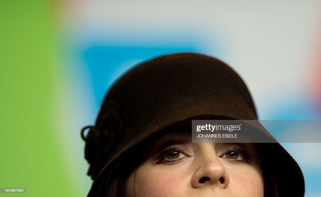 Iranian actress Maryam Moghadam poses during the photocell of their film Parde (Closed Curtain) during the 63rd Berlinale Film Festival on February 12, 2013 in Berlin.