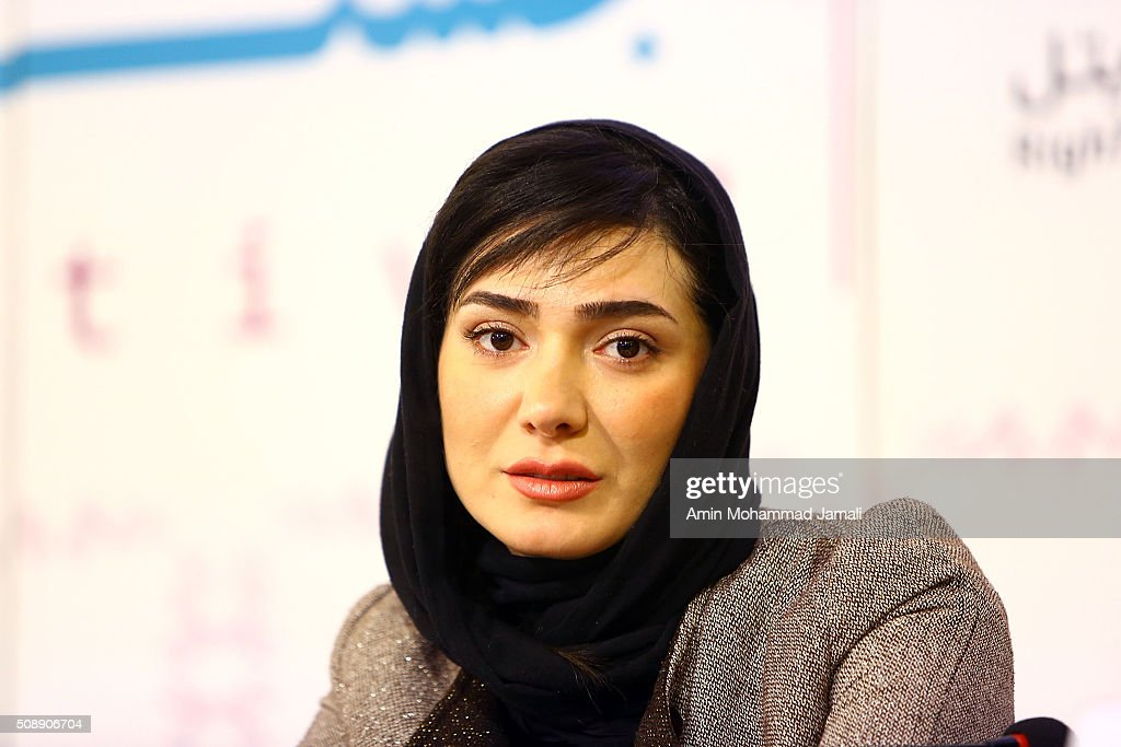 Iranian Actress Mina Vahid attends a press conference as part of the 34rd Fajr International Film Festival on February 7, 2016 in Tehran, Iran.