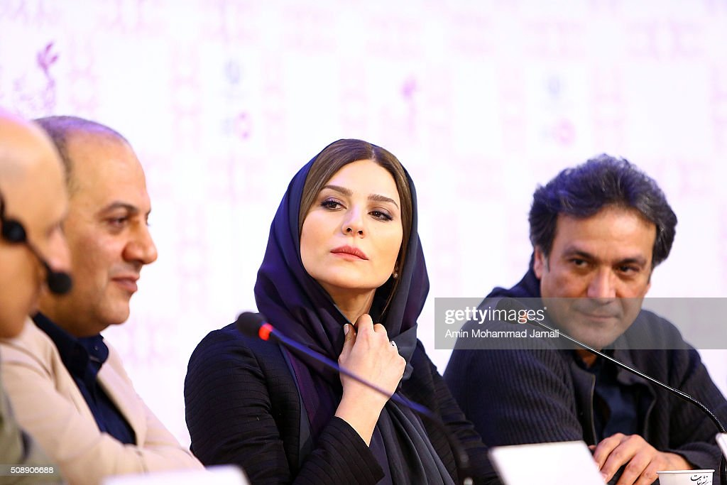 Iranian Actress Sahar Dolatshahi attends a press conference as part of the 34rd Fajr International Film Festival on February 7, 2016 in Tehran, Iran.