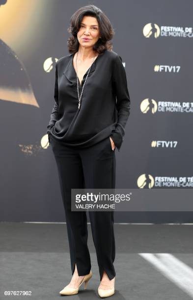 Iranian actress Shohreh Aghdashloo poses during a photocall as part of the 57th MonteCarlo International Television Festival on June 19 2017 in...