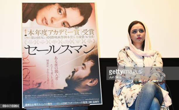 Iranian Actress Taraneh Alidoosti attend the 'Forushande' Stage Greeting at Bunkamura Le Cinema on June 10 2017 in Tokyo Japan