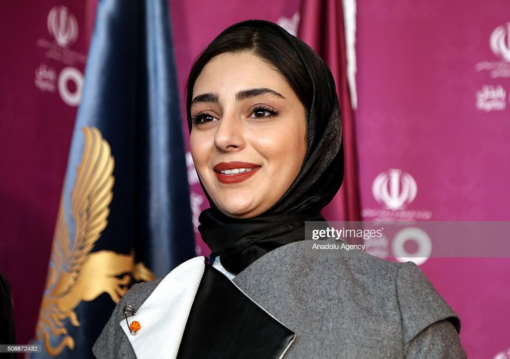 Iranian actresses Hasti Mahdavifar poses as she arrives for a screening during the 34th edition of the Fajr International Film Festival at Milad Tower in Tehran, Iran on February 07, 2015.