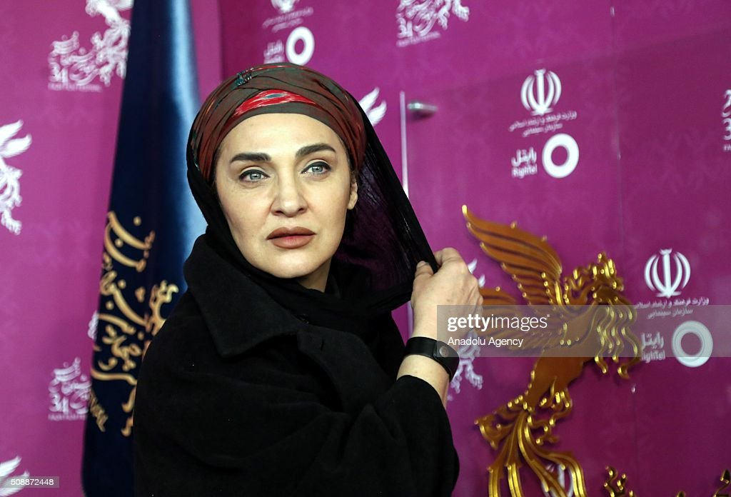 Iranian actresses Roya Nonahali poses as she arrives for a screening during the 34th edition of the Fajr International Film Festival at Milad Tower in Tehran, Iran on February 07, 2015.