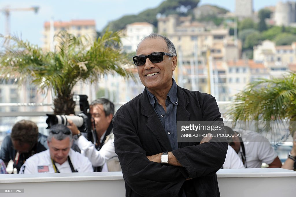 Iranian director Abbas Kiarostami poses during the photocall of 'Copie Conforme (Certified Copy) presented in competition at the 63rd Cannes Film Festival on May 18, 2010 in Cannes.