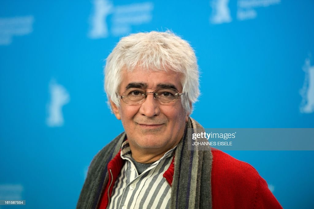 Iranian director Kambuzia Partovi poses during the photocell of their film Parde (Closed Curtain) during the 63rd Berlinale Film Festival on February 12, 2013.