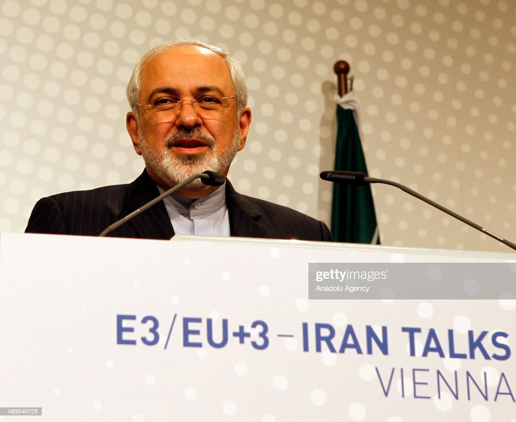 Iranian Foreign Ministry, Muhammed Javad Zarif speaks during a press conference at the third round of nuclear talks in Vienna, Austria on April 9, 2014. The talks include representatives from Iran and the P5+1 group (US, Russia, China, France and the UK plus Germany), headed by EU High Representative for Foreign Affairs, Catherine Ashton and Iranian Foreign Ministry, Muhammed Javad Zarif.