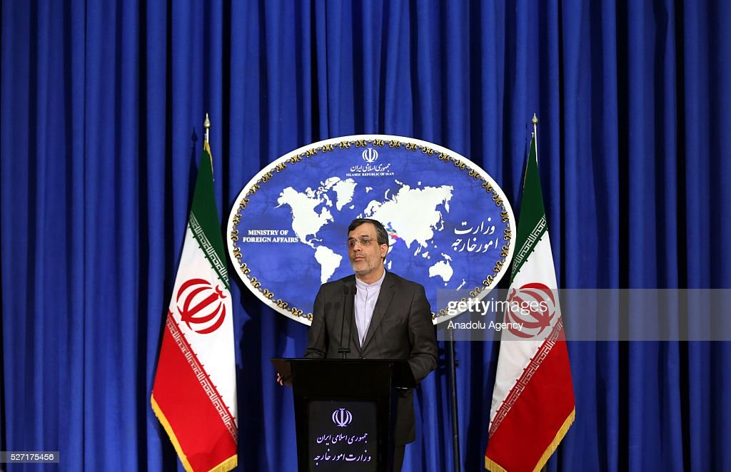 Iranian Foreign Ministry spokesman Hussein Jaber Ansari delivers a speech during a press conference at the Foreign Ministry in Tehran, Iran on May 2, 2016.