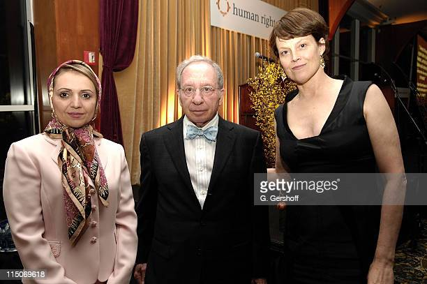 Iranian Journalist and Activist Fariba Davoodi Hohajer Honoree Chair Board of Directors Human Rights First William D Zabel and Actress and Human...